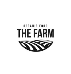 the farm logo template meadow silhouette land vector image