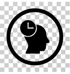 time thinking rounded icon vector image