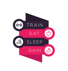 Train eat sleep poster for gym vector