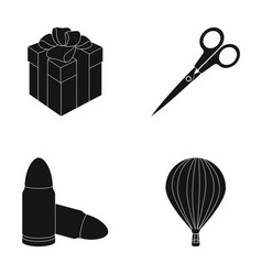 Travel service and other web icon in black style vector