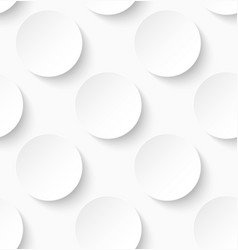 White paper seamless circle pattern background vector image