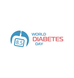 World diabetes day sign glucose meter medical vector