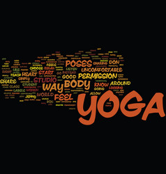 Yoga for every body text background word cloud vector