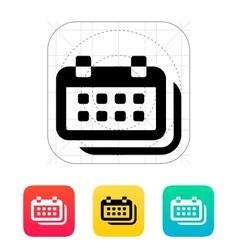 Calendars icon vector image