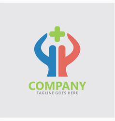 cross medical care logo vector image