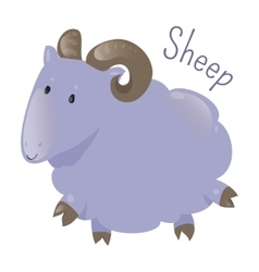 Sheep isolated Sticker for kids Child fun icon vector image