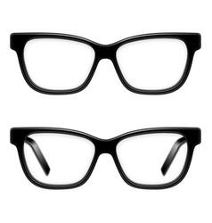 black framed glasses vector image vector image