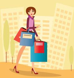 City-shopping vector image