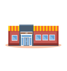 concept of modern city cafe building facade vector image