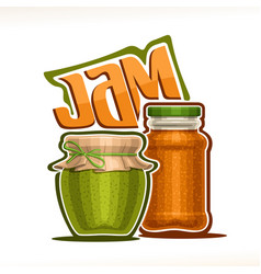 Fruit jam vector