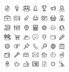 line icons set Icons for business vector image vector image
