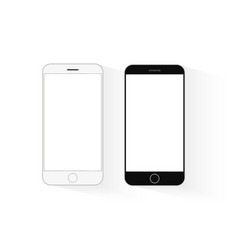 mobile phone mockup black and white telephone vector image vector image