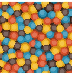 Retro bubbles pattern vector image vector image