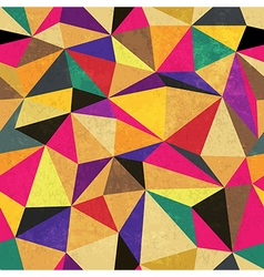 seamless triangle aged pattern vector image vector image