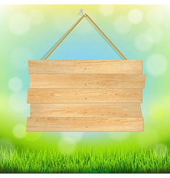 Summer Banner With Grass vector image