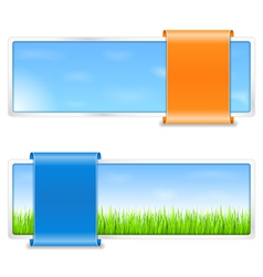 Summer Banners vector image vector image