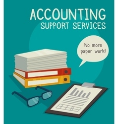 Accounting Support Services Concept vector image vector image