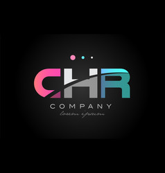 chr c h r three letter logo icon design vector image vector image