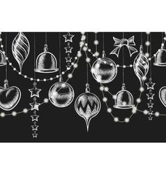Christmas Chalkboard Ornament vector image