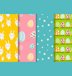 happy easter backgrounds vector image vector image