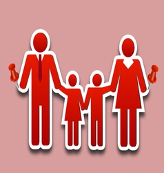 Happy family collage pin vector image vector image