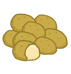 potato isolated vector image