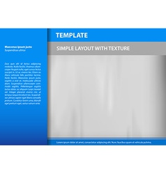 template blue s vector image vector image