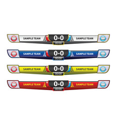 template scoreboard design elements for sport vector image