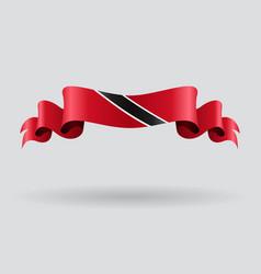 Trinidad and Tobago wavy flag vector image vector image