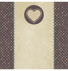 Vintage Valentines Heart Card vector image vector image