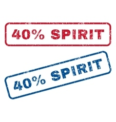 40 Percent Spirit Rubber Stamps vector image vector image