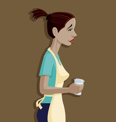 Coffee Shop Girl vector image