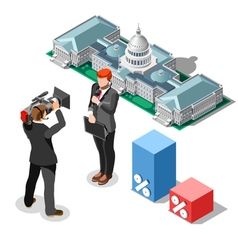 Election News Infographic Congress Isometric vector image vector image