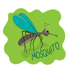 fun cute mosquito gant smile vector image