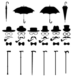 Gentleman icon set 2 vector image