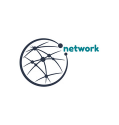 network connect logo template vector image