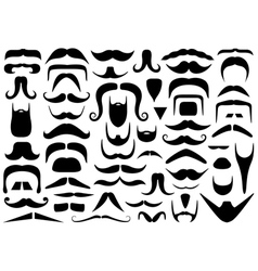 Set of different mustaches vector