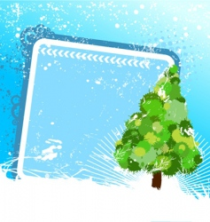 tree with frame vector image vector image