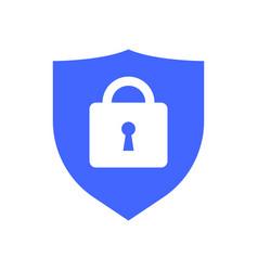 web security icon shield lock symbol guard badge vector image