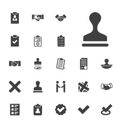 22 agreement icons vector