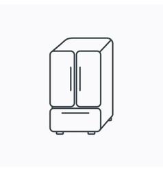 American fridge icon Refrigerator sign vector image