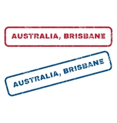 Australia Brisbane Rubber Stamps vector