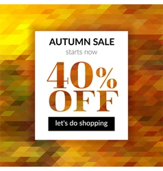 Autumn sale background with abstract background vector image