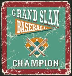 baseball grandslam card vector image