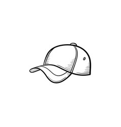 Baseball hat hand drawn sketch icon vector