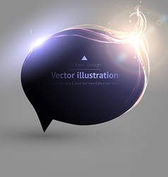 Black Speech Bubble for Design vector image