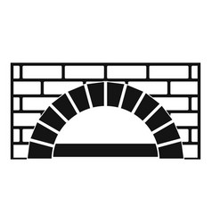 Brick oven icon simple style vector
