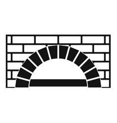 Brick oven icon simple style vector