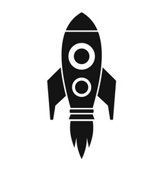 business rocket fly icon simple style vector image