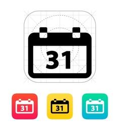 Calendar date icon vector